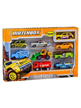 Набор 9 машинок Matchbox в подарочной коробке Матчбокс