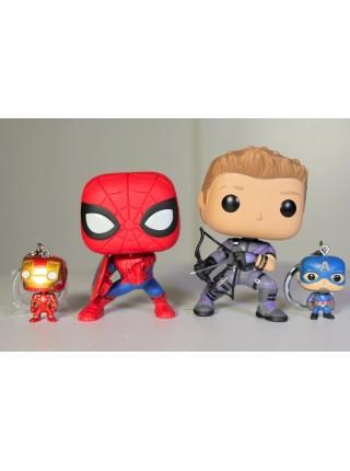 Funko POP Мстители набор фигурок и брелков 4 супергероя Marvel