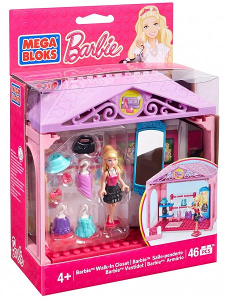 Конструктор Мега Блокс Барби гардероб Mega Bloks Barbie