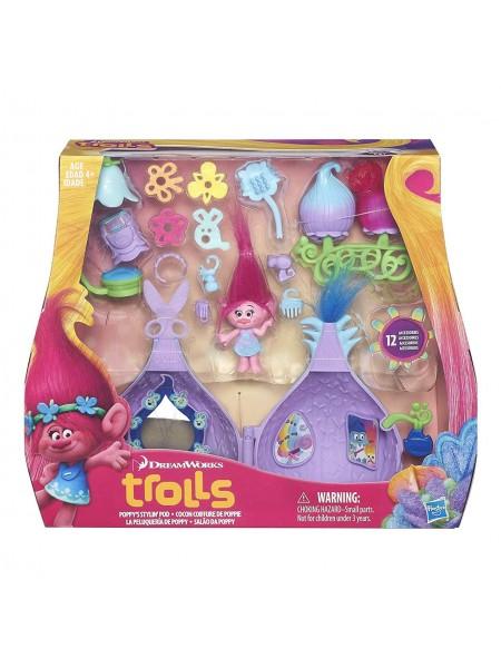 Набор Тролли от Hasbro Принцесса Розочка и 12 аксессуаров / Trolls DreamWorks