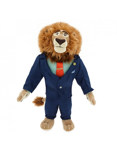 Лев златогрив мер города 40 см Зверополис Дисней/ Mayor Leodore Lionheart Plush Zootopia Disney