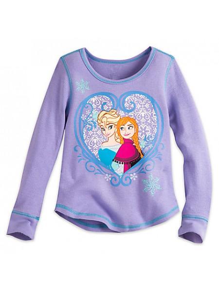 Реглан для девочки 7/8 лет Анна и Эльза Холодное сердце Дисней / Long Sleeve Thermal Tee Disney