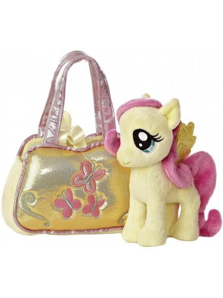 Май литл пони Флаттершай мягкая плюшевая игрушка в сумочке / My Little Pony Princess Fluttershy