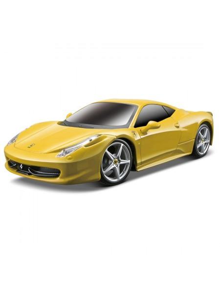 Автомобиль Maisto Ferrari 458 Italia желтый на р/у модель 1:24