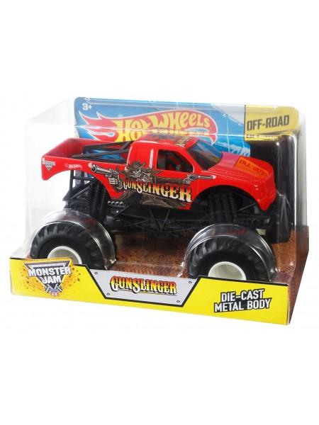Машинка Хот Вилз Монстр джем внедорожник масштаб 1:24 / Hot Wheels Monster Jam Gunslinger