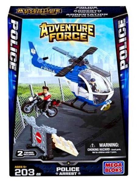 Мега Блокс приключения Полиции на вертолете конструктор Mega Bloks Adventure Force Police Arrest