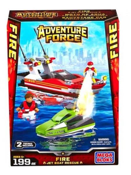 Мега Блокс Спасательная операция на катере конструктор Mega Bloks Adventure Force Force Fire Jet Boat Rescue