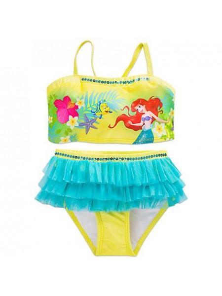Купальник раздельный для девочки Ариэль русалочка 7/8 лет / Ariel Swimsuit Disney
